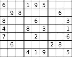 Exemple d'une grille de Sudoku